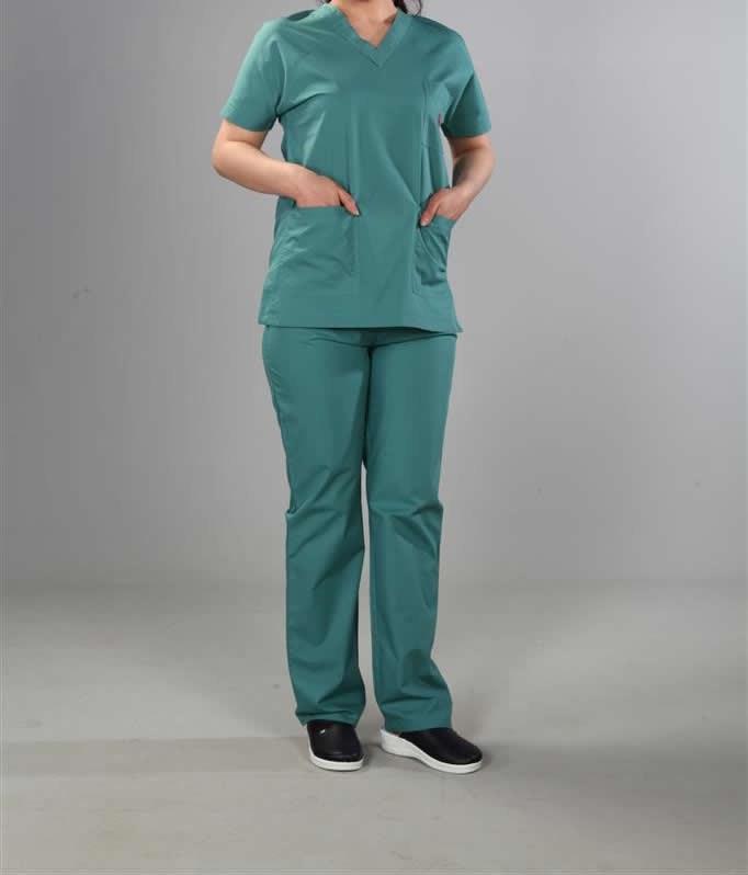 Yeşil Hemşire Kıyafeti