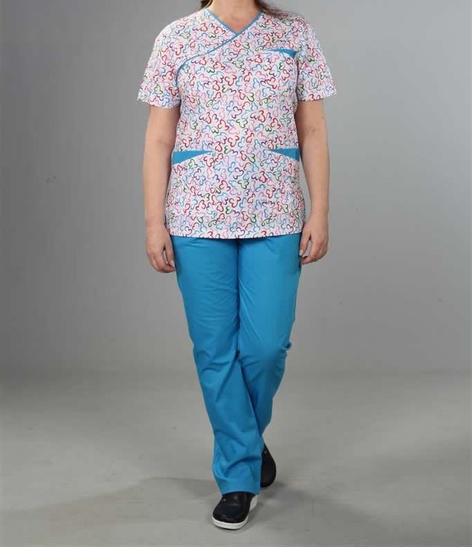 mavi hemşire Kıyafeti
