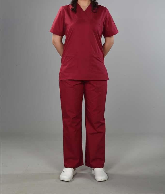 Kırmızı Hemşire Kıyafeti